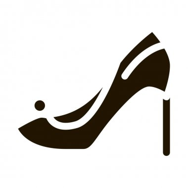 Female Shoe glyph icon vector. Female Shoe Sign. isolated symbol illustration icon