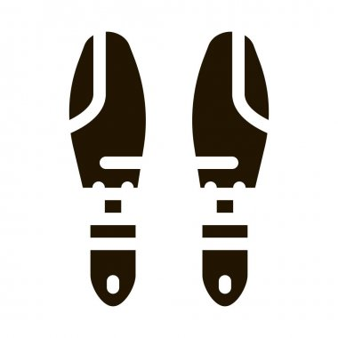 Shoe Sole Detail glyph icon vector. Shoe Sole Detail Sign. isolated symbol illustration icon