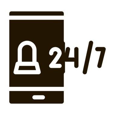 Mobile Service glyph icon vector. Mobile Service Sign. isolated symbol illustration icon