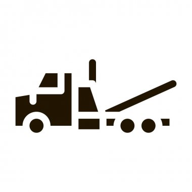 Tow Trick Service glyph icon vector. Tow Trick Service Sign. isolated symbol illustration icon