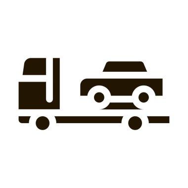 Car Evacuation glyph icon vector. Car Evacuation Sign. isolated symbol illustration icon