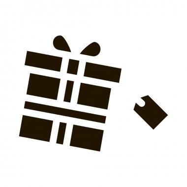 Gist Box Label glyph icon vector. Gist Box Label Sign. isolated symbol illustration icon