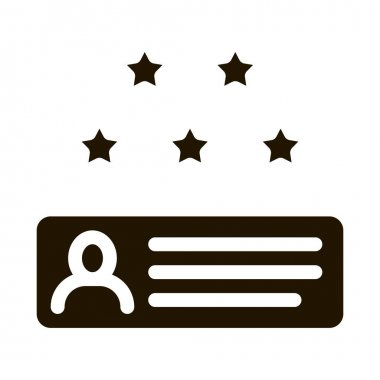 Review Stars glyph icon vector. Review Stars Sign. isolated symbol illustration icon