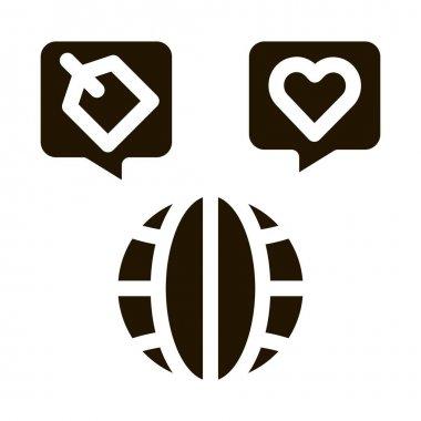 Worldwide Globe glyph icon vector. Worldwide Globe Sign. isolated symbol illustration icon