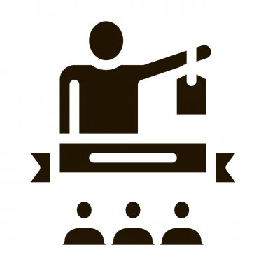 Human Ribbon glyph icon vector. Human Ribbon Sign. isolated symbol illustration icon