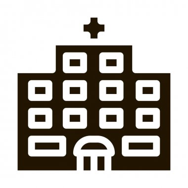 Hospital Building glyph icon vector. Hospital Building Sign. isolated symbol illustration icon