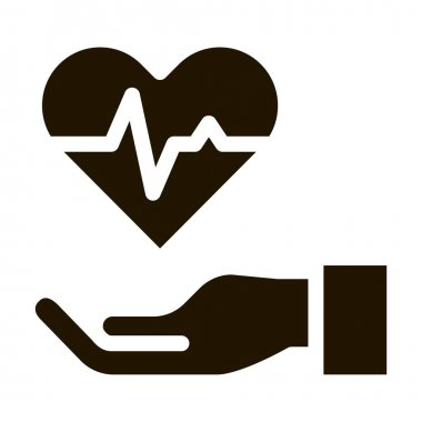 Hand Hold Heart glyph icon vector. Hand Hold Heart Sign. isolated symbol illustration icon