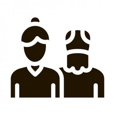 Grandparents glyph icon vector. Grandparents Sign. isolated symbol illustration icon