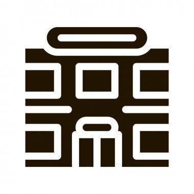 Supermarket glyph icon vector. Supermarket Sign. isolated symbol illustration icon