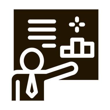 Man Presentation glyph icon vector. Man Presentation Sign. isolated symbol illustration icon