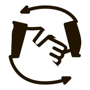 Handshake glyph icon vector. Handshake Sign. isolated symbol illustration icon