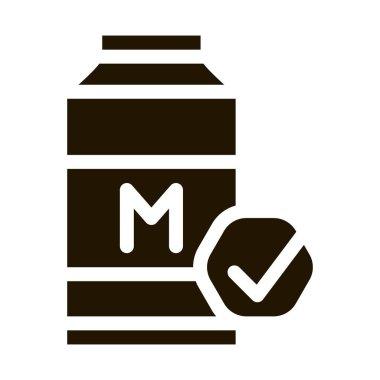 Milk Bottle glyph icon vector. Milk Bottle Sign. isolated symbol illustration icon