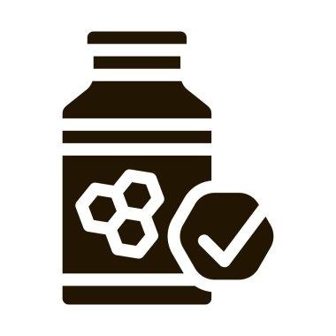 Honey Bottle glyph icon vector. Honey Bottle Sign. isolated symbol illustration icon