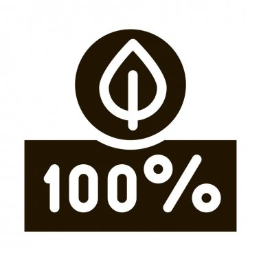 Hundred Percent glyph icon vector. Hundred Percent Sign. isolated symbol illustration icon