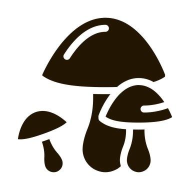 Mushrooms glyph icon vector. Mushrooms Sign. isolated symbol illustration icon