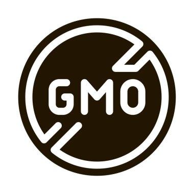 Gmo Crossed glyph icon vector. Gmo Crossed Sign. isolated symbol illustration icon