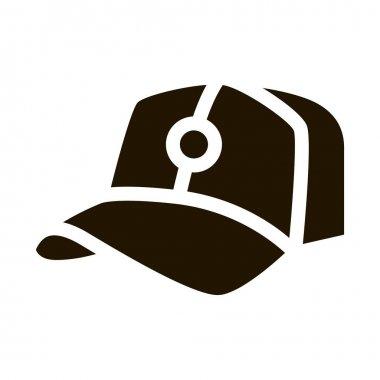 Baseball Cap Hat glyph icon vector. Baseball Cap Hat Sign. isolated symbol illustration icon