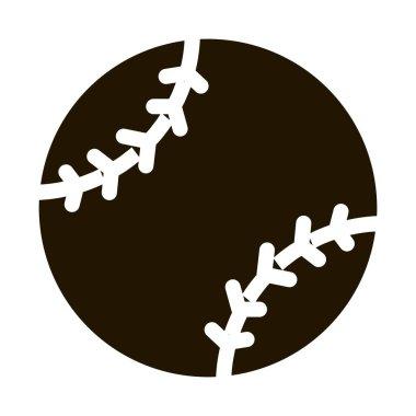 Baseball Ball glyph icon vector. Baseball Ball Sign. isolated symbol illustration icon