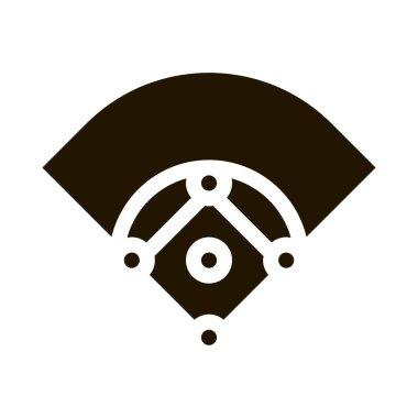 Baseball Field glyph icon vector. Baseball Field Sign. isolated symbol illustration icon