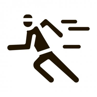 Running Player glyph icon vector. Running Player Sign. isolated symbol illustration icon