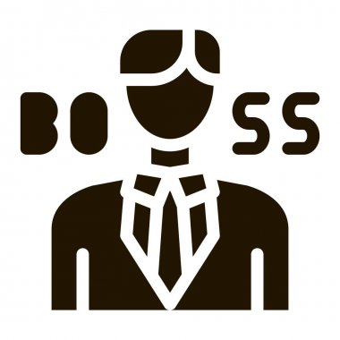 Boss Silhouette glyph icon vector. Boss Silhouette Sign. isolated symbol illustration icon