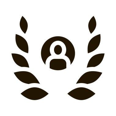 Human Laurel glyph icon vector. Human Laurel Sign. isolated symbol illustration icon