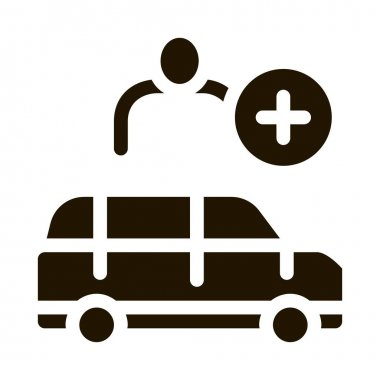 Man Buying Car glyph icon vector. Man Buying Car Sign. isolated symbol illustration icon