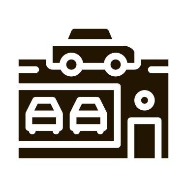 Car Dealer Shop glyph icon vector. Car Dealer Shop Sign. isolated symbol illustration icon