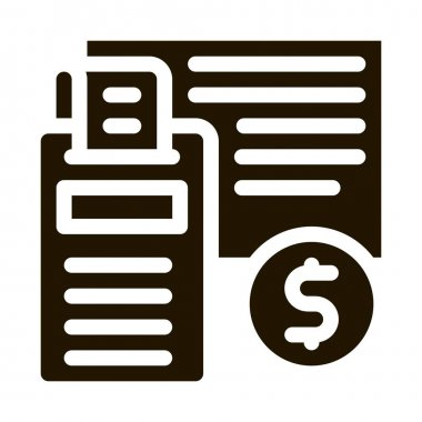 Calculator Coin glyph icon vector. Calculator Coin Sign. isolated symbol illustration icon