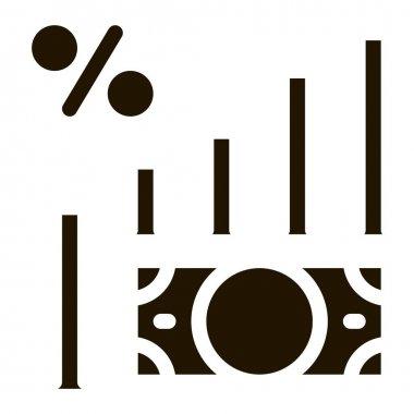 Money Infographic glyph icon vector. Money Infographic Sign. isolated symbol illustration icon