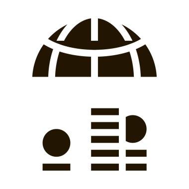 Worldwide Money glyph icon vector. Worldwide Money Sign. isolated symbol illustration icon