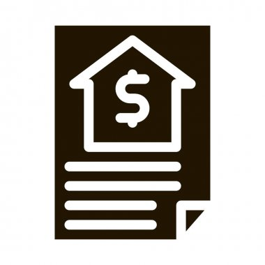 House Document glyph icon vector. House Document Sign. isolated symbol illustration icon