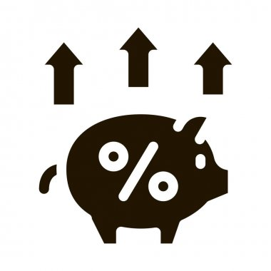 Pig Money Box glyph icon vector. Pig Money Box Sign. isolated symbol illustration icon