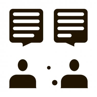 Interview Discuss glyph icon vector. Interview Discuss Sign. isolated symbol illustration icon