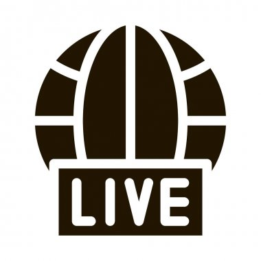 Globe Live News glyph icon vector. Globe Live News Sign. isolated symbol illustration icon