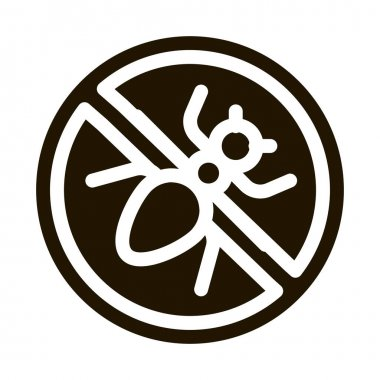 Crossed Mosquito glyph icon vector. Crossed Mosquito Sign. isolated symbol illustration icon