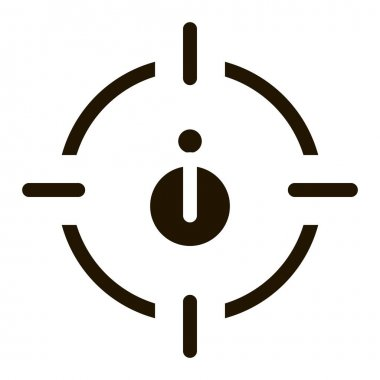 Bug Target glyph icon vector. Bug Target Sign. isolated symbol illustration icon