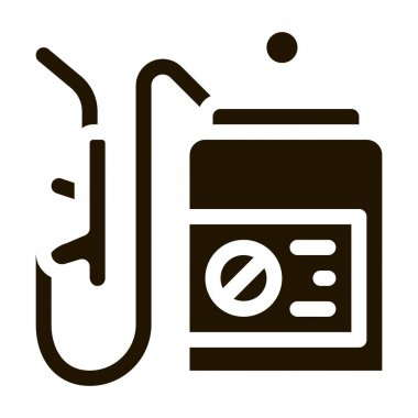 Spray Equipment glyph icon vector. Spray Equipment Sign. isolated symbol illustration icon