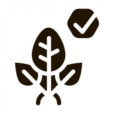 Plant Access Mark glyph icon vector. Plant Access Mark Sign. isolated symbol illustration icon