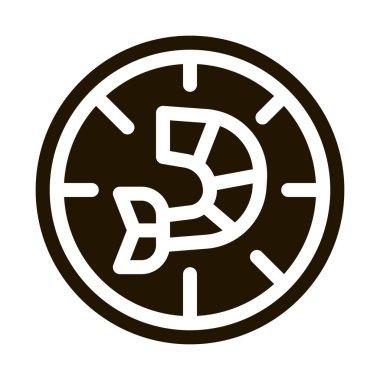 Pizza Shrimp glyph icon vector. Pizza Shrimp Sign. isolated symbol illustration icon