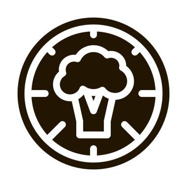 Pizza Broccoli glyph icon vector. Pizza Broccoli Sign. isolated symbol illustration icon