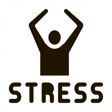 Stress Human glyph icon vector. Stress Human Sign. isolated symbol illustration icon