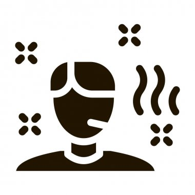 Illness Man glyph icon vector. Illness Man Sign. isolated symbol illustration icon