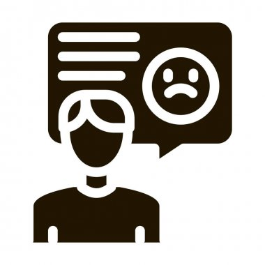 Sad Man Frame glyph icon vector. Sad Man Frame Sign. isolated symbol illustration icon