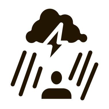 Rainy Cloud Man glyph icon vector. Rainy Cloud Man Sign. isolated symbol illustration icon