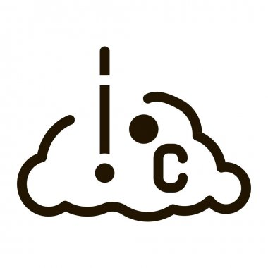 Temperature Cloud glyph icon vector. Temperature Cloud Sign. isolated symbol illustration icon