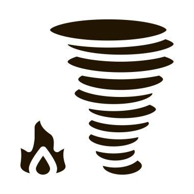 Burn Fire Tornado glyph icon vector. Burn Fire Tornado Sign. isolated symbol illustration icon