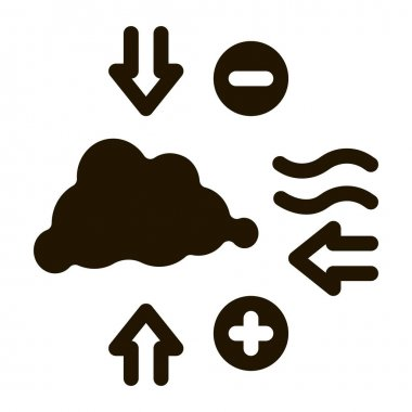 Air Pressure glyph icon vector. Air Pressure Sign. isolated symbol illustration icon