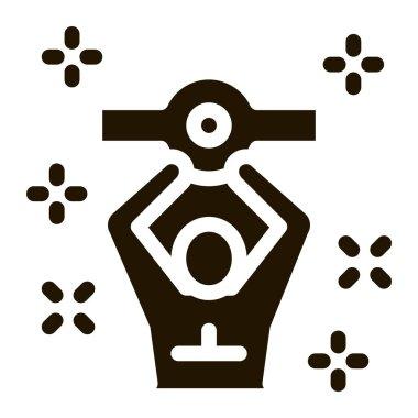 Boxer Champion glyph icon vector.  Boxer Champion Sign. isolated symbol illustration icon