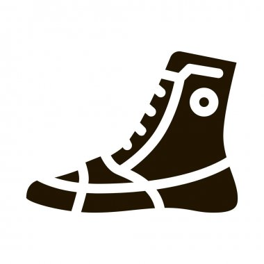Boxing Shoes Sneakers glyph icon vector.  Boxing Shoes Sneakers Sign. isolated symbol illustration icon